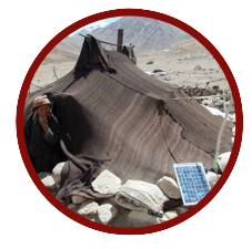 Nomads using solar PV
